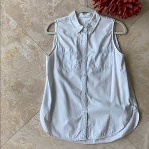 3 for $20 Sleeveless Button Down Jean chambray top